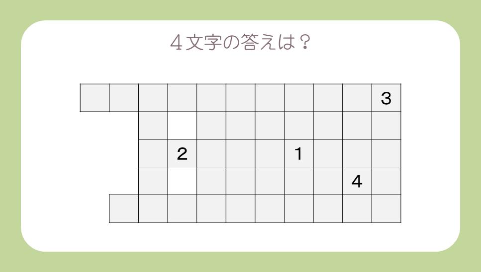 謎解き基礎問題『形に注目』の問題