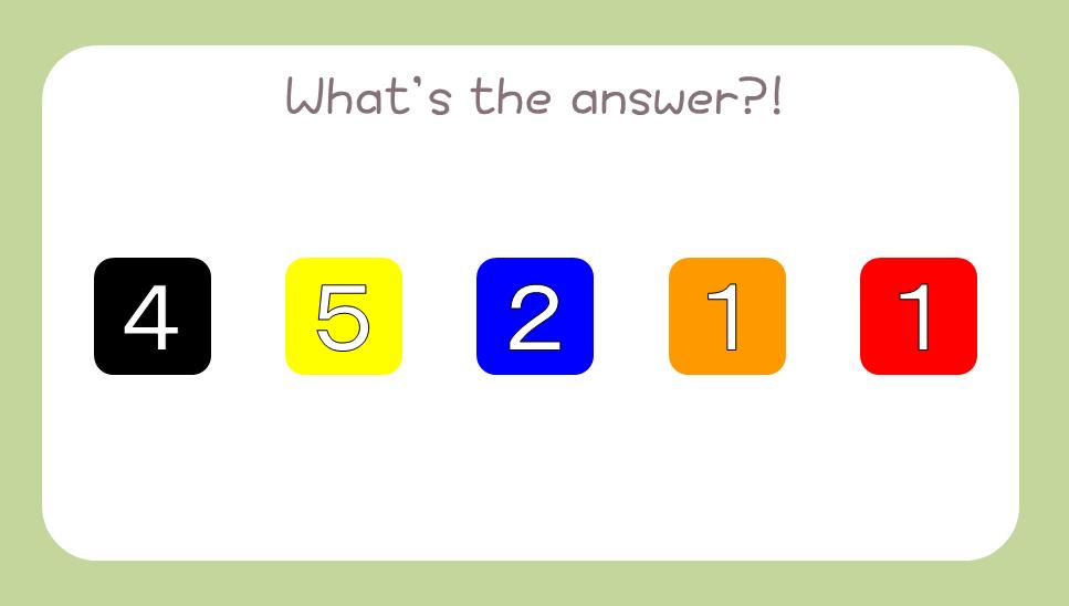 謎解き基礎問題『色に数字』の問題