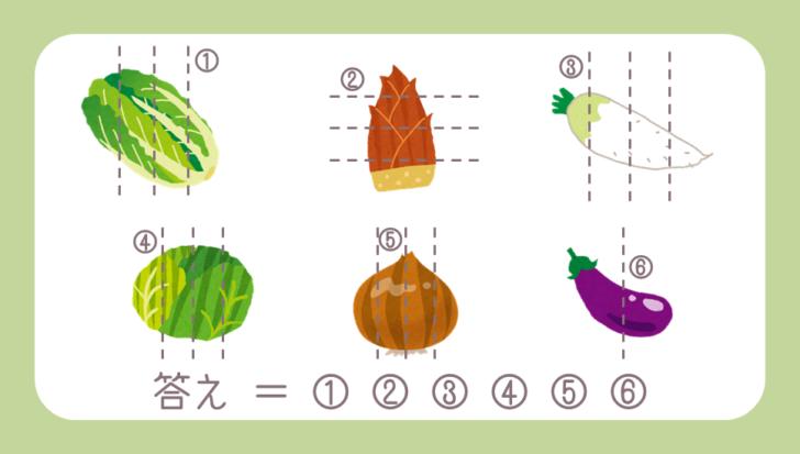 謎解き基礎問題『6つの野菜』の問題