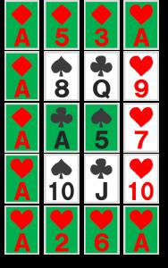 謎解き練習問題『並べられたトランプ』の解答その2