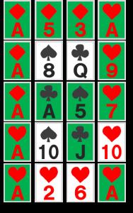 謎解き練習問題『並べられたトランプ』の解答その3