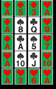 謎解き練習問題『並べられたトランプ』の解答その4