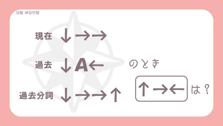 謎解き練習問題『矢印が示すもの』の問題