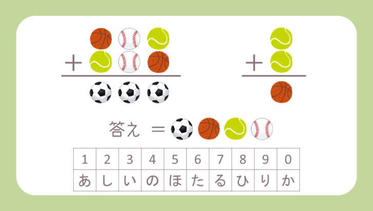 謎解き基礎問題『ボールDE計算』の問題